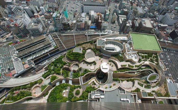 Rooftop Park in Osaka, Japan