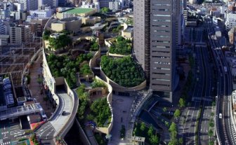 Rooftop Park in Osaka, Japan