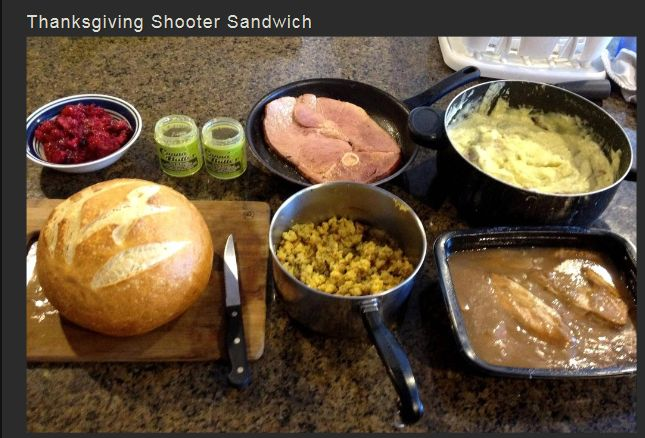 Thanksgiving Shooter Sandwich