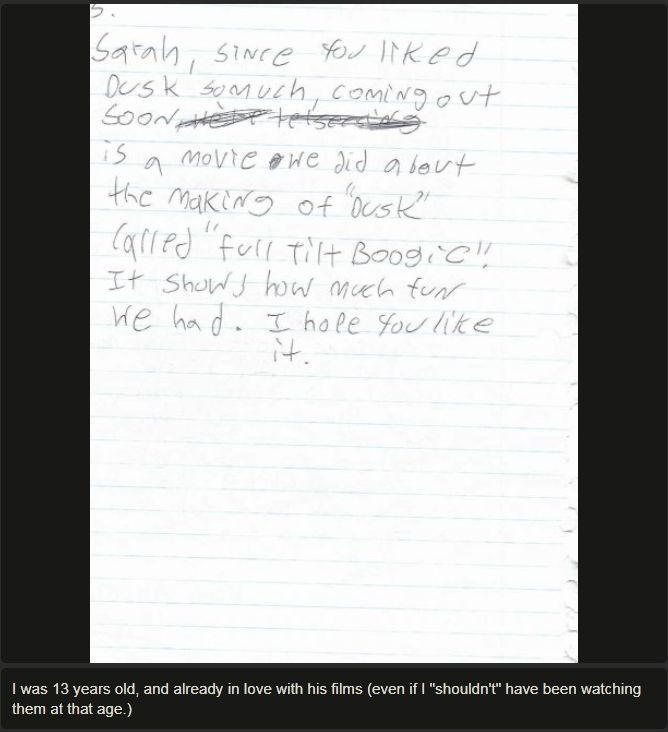 Tarantino Letter