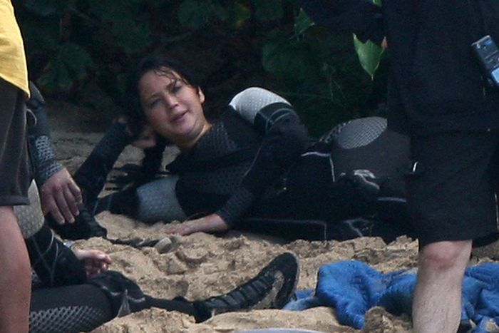"On the Set ""The Hunger Games: Catching Fire"""