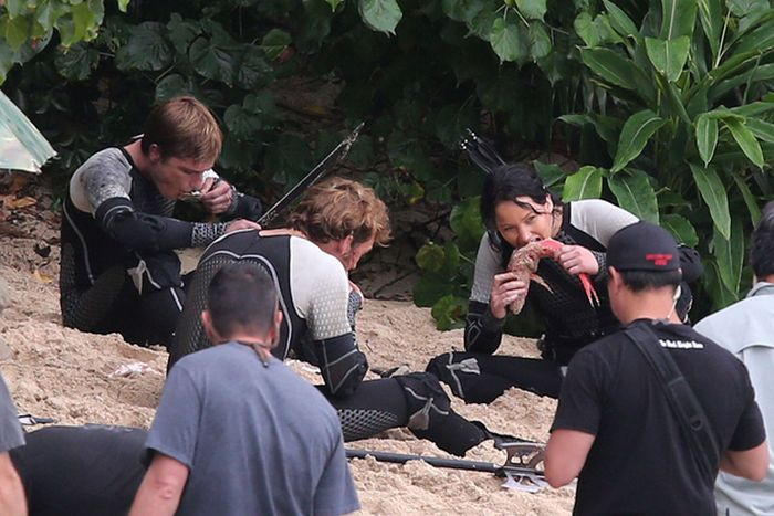 """On the Set """"The Hunger Games: Catching Fire"""""""