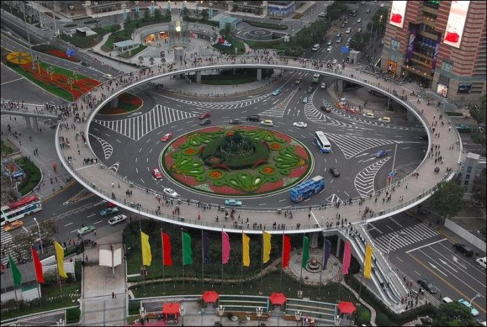 Pedestrian Circle Bridge in China