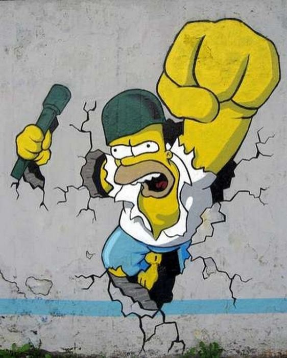 The Simpsons Street Art