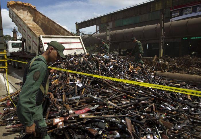 Illegal Arms Destroyed in Venezuela