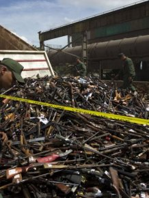 Illegal Arms Destroyed in Venezuela