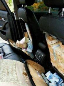 1.8 Million Euro Inside Car Seats