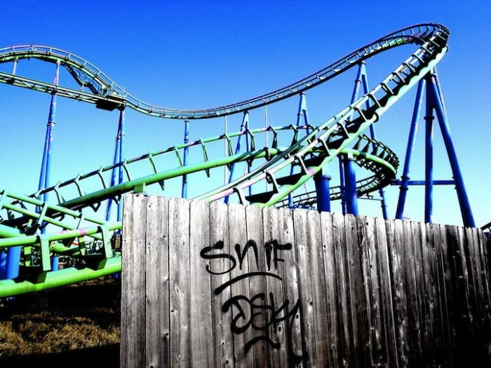 Abandoned Six Flags in New Orleans