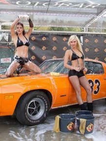 Girls - contest washing cars