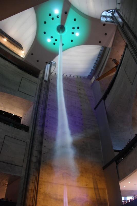 Artificial tornado in Mercedes-Benz Museum