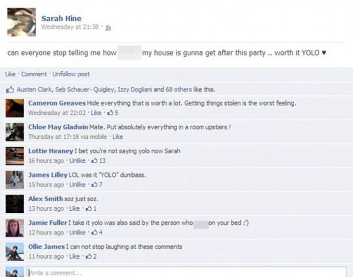 Facebook Party Disaster