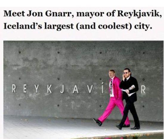Jon Gnarr, Mayor of Reykjavik