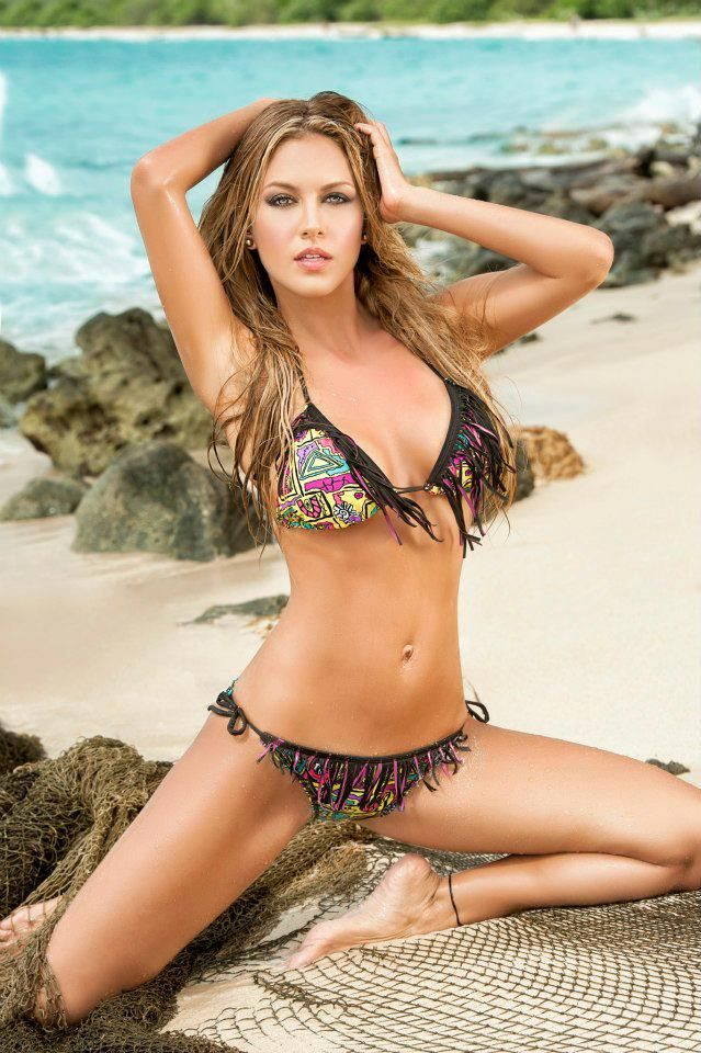Lina Posada in Irgus swimwear