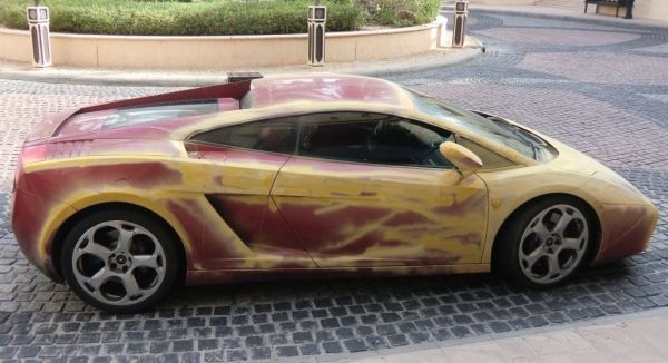 Unusual painted Lamborghini Gallardo