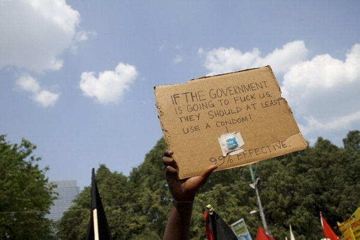 The Best Protest Signs Of 2012, part 2012