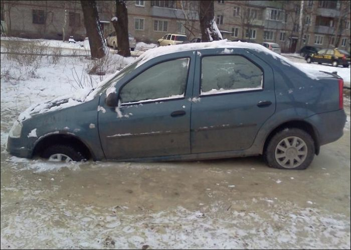 Ice Parking in Russia