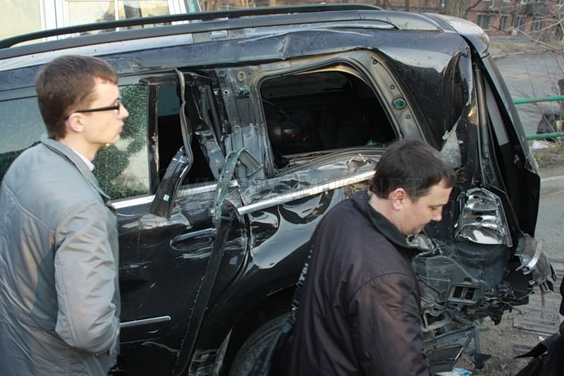 An accident involving 18 cars in Vladivostok