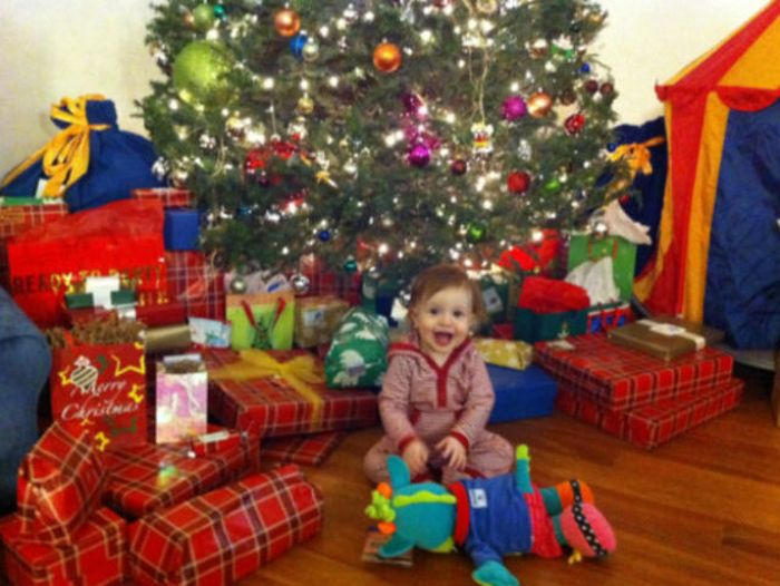 Happy Children On Christmas Morning Others