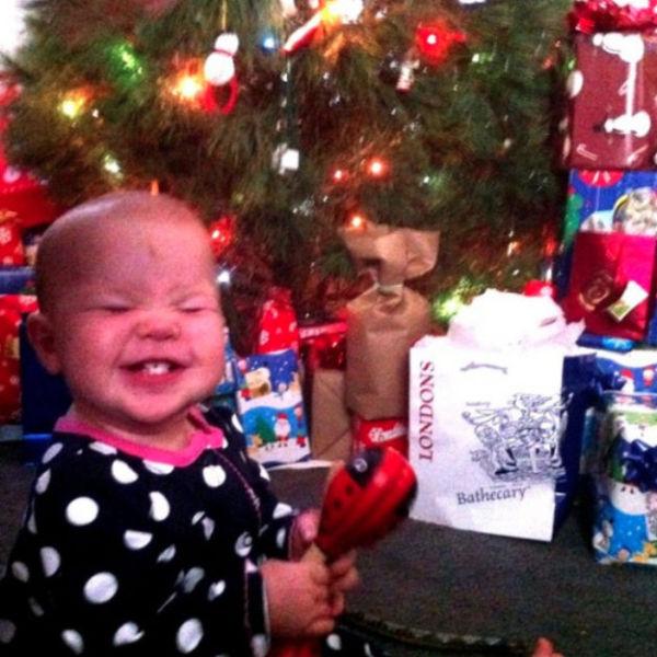 Happy Children On Christmas Morning