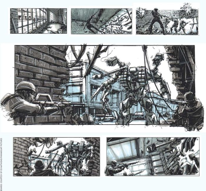 Storyboards from Famous Movies