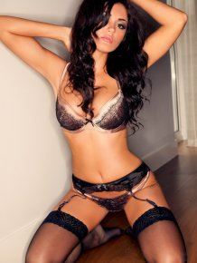 India Reynolds in lingerie