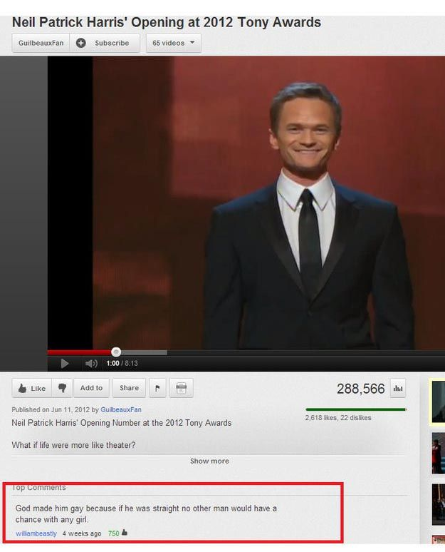 The Funniest YouTube Comments of 2012, part 2012