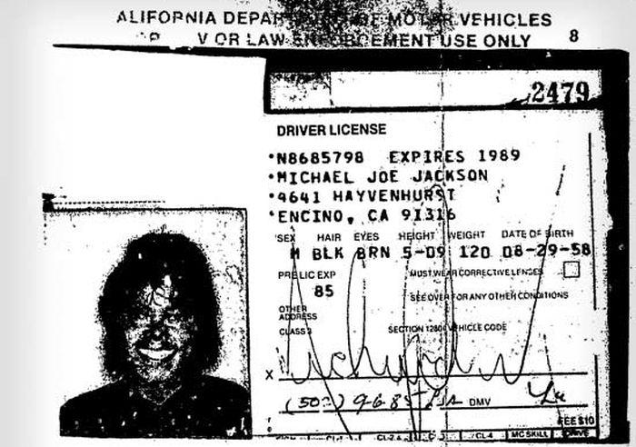 Michael Jackson's Final Driver's License