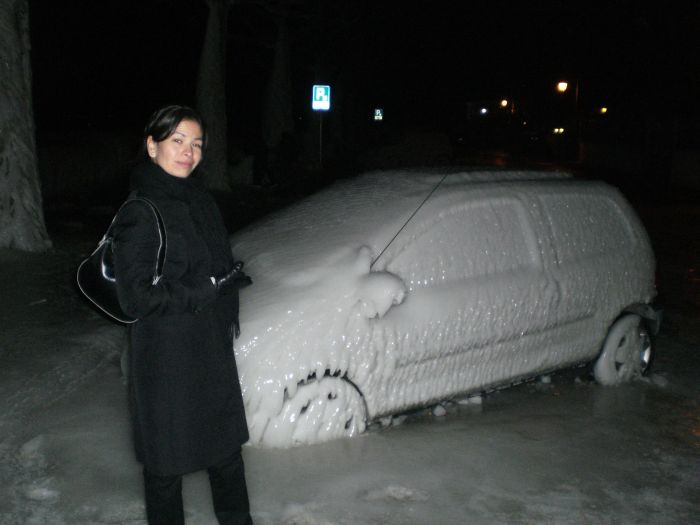 Cars after an Ice Storm
