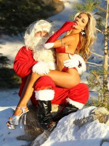 Courtney Stodden and Doug Hutcherson in Christmas costumes