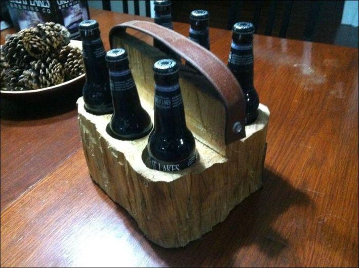 DIY Wooden Six Pack Carrier