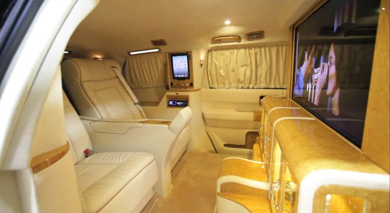 Luxury armored car from Toyota Sequoia