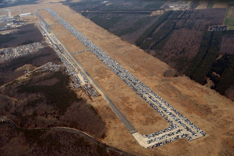 Thousands of cars after Hurricane Sandy