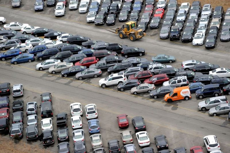 Hurricaine Sandy Cars At Airport
