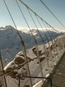 The Highest Suspension Bridge in Europe