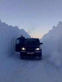 The harsh winter in Norilsk, Russia