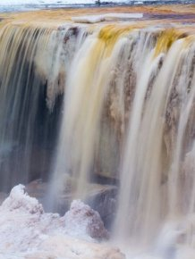 Beautiful Waterfall with a Rare Color