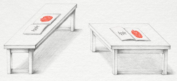 Illusion of the Day. Two Tables