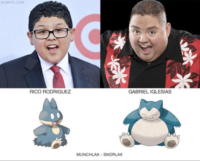 Celebrities as Pokemon Characters