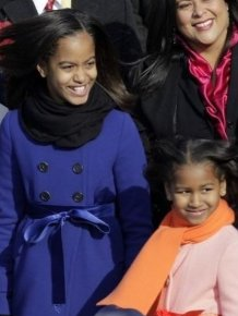 Sasha and Malia Obama, 2009 vs 2013