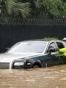 Flooded Rolls-Royce Ghost