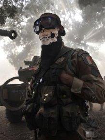 """Call Of Duty"" Skull Mask"
