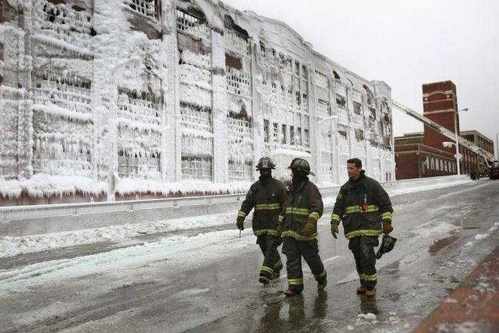 Abandoned Chicago Warehouse Covered in Ice