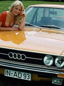 Retro ads of Audi and hot girls