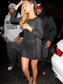 Rihanna in a See Trough Dress