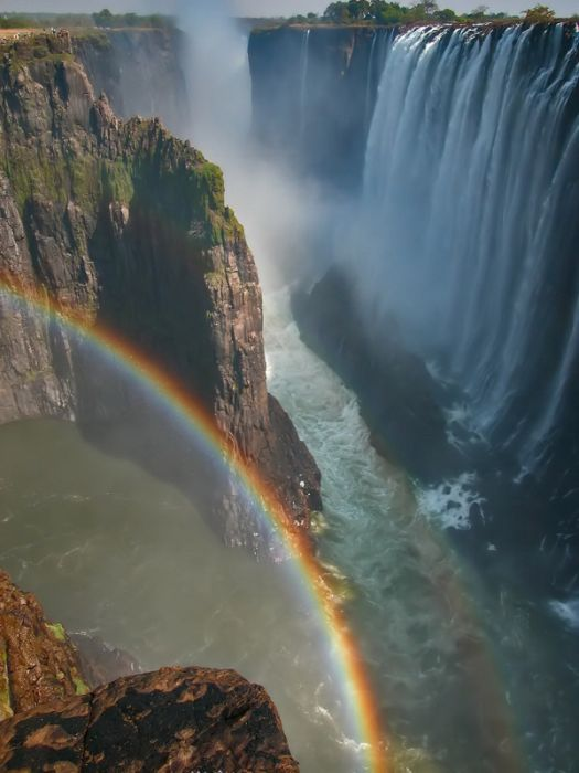 Amazing Double Rainbow Over Victoria Falls