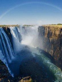 Amazing Double Rainbow Over Victoria Falls