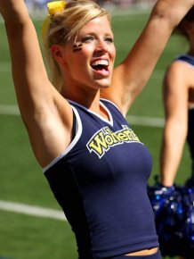 Indiana University vs University of Michigan Cheerleaders