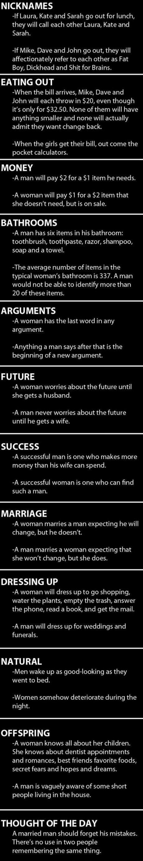 Men vs Women, part 4