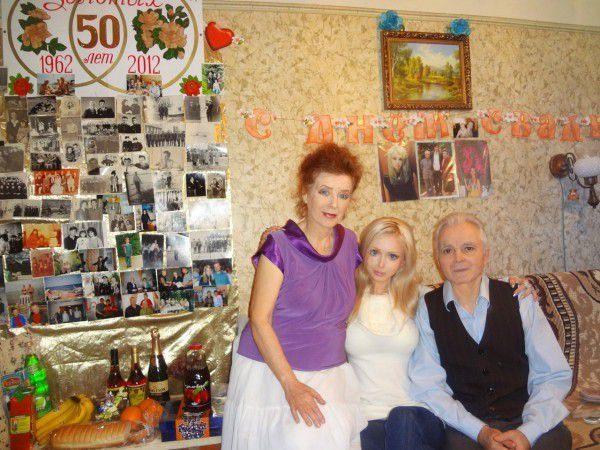 Russian barbie Valeria and her family