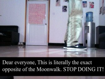 How to Learn to Moonwalk